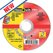 Flexovit Metal Cutting Discs 115 x 1 x 22.23mm Bore Pack of 5