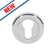 Smith & Locke Contemporary Euro Profile Escutcheon Pol. Chrome 50mm