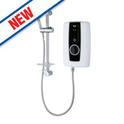Triton Temptation Manual Electric Shower Black & White 9.5kW