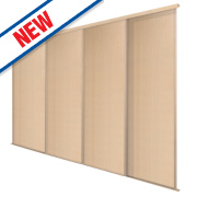 Spacepro 4 Door Panel Sliding Wardrobe Doors Maple 2390 x 2260mm