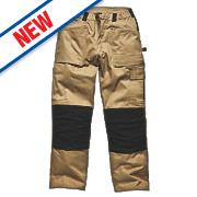 "Dickies Grafter Work Trousers Khaki / Black 34"" W 32"" L"