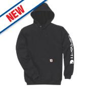 "Carhartt Hooded Sweatshirt Black Large 42-44"" Chest"