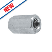 A2 Stainless Steel Threaded Rod Connecting Nut M12 Pack of 10
