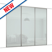 Spacepro 3 Door Framed Glass Sliding Wardrobe Doors White 2692 x 2260mm