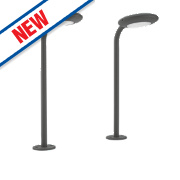 Philips Iguana Anthracite LED Solar Post Light 100Lm 2 x 1.5W Pack of 2