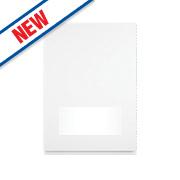 White Kitchens Gloss Handleless 500 Glass Wall Door 496 x 732mm