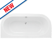 D-Shape Twin-Ended Bath Acrylic No Tap Holes 1700mm