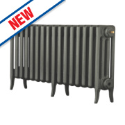 Arroll Neo-Classic 4-Column Cast Iron Radiator Cast Grey 460 x 874mm