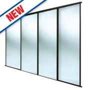 Spacepro 4 Door Framed Sliding Mirror Wardrobe Doors 2998 x 2260mm