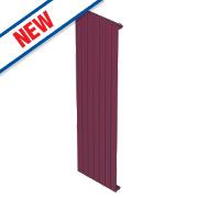 Moretti Modena Single Panel Vertical Designer Radiator Claret 1800x578mm