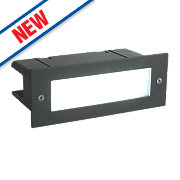 Saxby Seina Recessed LED Brick Light Black 4.5W