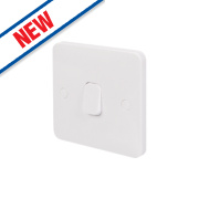 Schneider Electric 1-Gang 1-Way 10AX Retractive Switch White