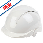 Centurion Concept Reduced Peak Vented Safety Helmet White