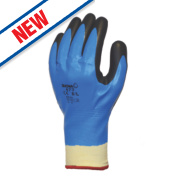Showa 477 Insulated Nitrile Foam Grip Gloves Blue/White/Black Medium