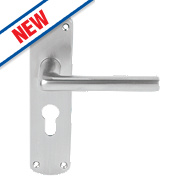 Serozzetta Serozzetta Uno Ringed Door Knob Pair Satin Chrome