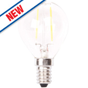 LAP Globe LED Filament Lamp Clear SES 4W