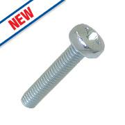 Easyfix Bright Zinc-Plated Pan Head Machine Screws M4 x 20mm 25 Pack