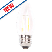 LAP Candle LED Filament Lamp Clear ES 4W