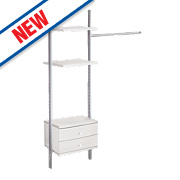 Spacepro Door Wardrobe Storage System 1310-1910 x 2700mm
