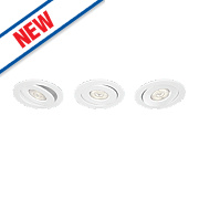 Philips Adjustable Asterope LED Downlights 440Lm White 4.5W 230V Pack of 3