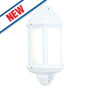 Saxby Halbury 7W Matt White Half Lantern 500Lm