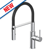 Watersmith Madrid Pull Out Mono Mixer Kitchen Tap Chrome