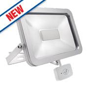 Brackenheath ispot Driverless LED Floodlight w/ Microwave Sensor 30W White