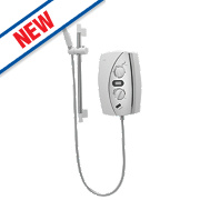 Gainsborough E75 Electric Shower White / Chrome 8.5kW