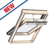Velux Integra Solar Roof Window Centre-Pivot Noise Reduction Clear 1140 x 1180mm