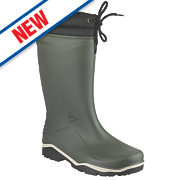 Dunlop Blizzard Non-Safety Wellington Boots Green Size 5