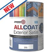Zinsser All Coat Exterior Paint White 1Ltr