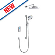 Mira Vision HP Rear Fed Thermostatic Mixer Shower with Digital Control White/Chrome