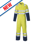 Dickies FR4870 Hi-Vis Safety Coverall Yellow XX Large 54