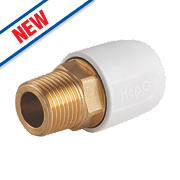 "Hep2O HX29/15WS Adapt Brass Male Socket ½"" x 15mm"