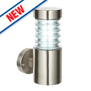 Saxby Equinox Brushed Stainless Steel Wall Light 23W