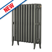 Arroll Neo-Classic 4-Column Cast Iron Radiator Cast Grey 660 x 754mm