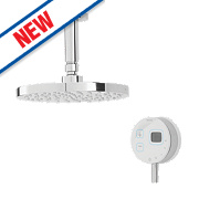Bristan Artisan Evo HP Ceiling Fed Thermostatic Mixer Shower with Digital Control White