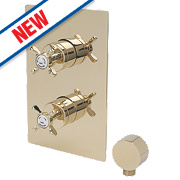 Bristan 1901 Shower Valve with Divertor Fixed Built-In Gold