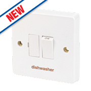 Crabtree 13A Switched Fused Connection Unit - Dishwasher - White Pack of 10