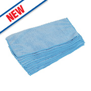 Microfibre Cleaning Cloths Blue Pack of 10
