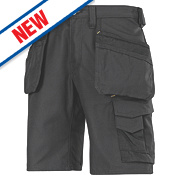 "Snickers Craftsmen 3014 Multi-Pocket Shorts Black 36"" W"