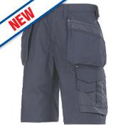 """Snickers Craftsmen 3014 Multi-Pocket Shorts Navy 36"""" W"""