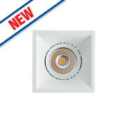 Luceco Fixed Recessed Square Downlight 720Lm White 6.2W 230V