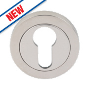 Eurospec Contemporary Euro Profile Escutcheon Bright Stainless Steel 52mm