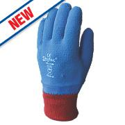 Skytec Helium Latex-Coated Grip Gloves Blue/Red Medium