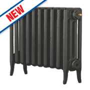 Arroll Neo Classic 4-Column Cast Iron Radiator Pewter 460 x 754mm