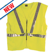 "Fhoss Contego Illuminated Hi-Vis Vest Yellow XX Lge / XXX Lge 54-58"" Chest"