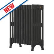Arroll Victorian 6-Column Cast Iron Designer Radiator Black Primer 625x654mm