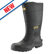 JCB Hydromaster Safety Wellington Boots Black Size 8