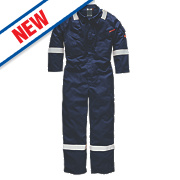 "Dickies FR5401 Flame Retardant Coverall Navy Large 46"" Chest 31"" L"